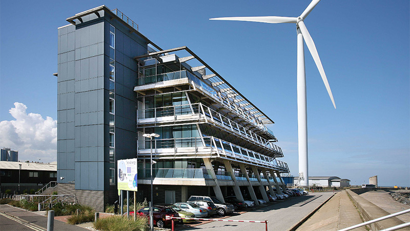 Orbis Energy Site with Gulliver Wind Turbine