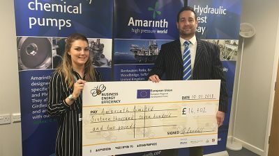 Amarinth Company receiving grant for £16,702